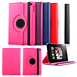 Luxury 360 Rotating Magnetic Smart PU Leather Case Cover for Fire HD 6 Case (Assorted Color)