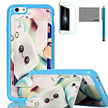 LEXY® Smiling Candy Pattern Soft TPU Back Case with Screen Protector and Stylus for iPhone 6/6S