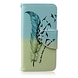 Feather Painted PU Phone Case for iphone5/5S