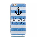 Anchor  Pattern Water Cube TPU Soft Case for iPhone 6/6S
