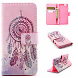 Campanula Pattern PU Leather phone Case For iPhone 6S/6