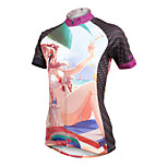 ilpaladinoSport Women Short Sleeve Cycling Jersey New Style Distinctive  DX602  Holiday 100% Polyester