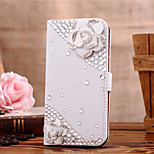 Luxury Set Drill Handmade Diamond 3D PU Leather Full Body Case with Kickstand and Card Slot for iPhone 6/6S