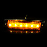 12v camion auto camion rimorchio 6LED indicatore laterale spia len sidelamp nuovo
