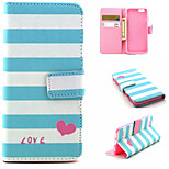 Love Pattern PU Leather phone Case For iPhone 6S/6