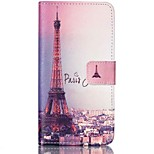Paris Tower Painted PU Phone Case for Huawei Honor 6