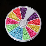 Beadia 1Box/46g Glass Seed Beads 2mm Round Mixed Neon Colors Small Glass Beads (aprx.1000pcs)
