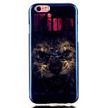 Lion Blue laser TPU Pattern Back Cover Mobile Phone Protection Shell for iPhone 6/6S