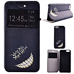 Smiling Teeth Pattern PU Leather Full Body Cover with Stand for iPhone 6/iPhone 6S