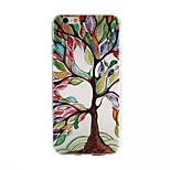 Tree Painting Pattern TPU+IMD Ultrathin Back Case For iPhone6/6s