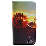 Here Come the Sun Pattern PU Leather Full Body Cover with Stand for Sony Xperia Z5 Compact