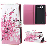 Plum Blossom Wallet Leather Stand Case for  Microsoft Nokia Lumia 950 N950