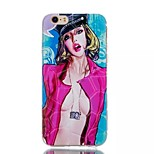 Sexy Girl Pattern Water Cube TPU Soft Case for iPhone 6/6S