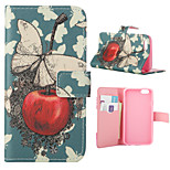 Apple Pattern Card Stand Leather Case for iPhone 6/6S