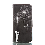 The Dandelion PU Leather Wallet with Card Holder and Stand for Iphone 5 5S 5SE 5C 6 6S 6 Plus 6S Plus
