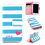 Love Pattern PU Leather phone Case For iPhone 5/5S