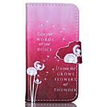 Finger Buckle White Dandelion Painted PU Phone Case for iphone4/4S