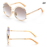 Sunglasses Women's Modern / Fashion Oval Silver / Gold Sunglasses Full-Rim