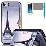 LEXY® Red Umbrella Tower Pattern Soft TPU Back Case with Screen Protector and Stylus for iPhone 5/5S