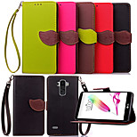 Luxury Leather Card Holder Stand Magnetic Phone Flip Cases Shell Leaf Wallet + Lanyard Cover For LG G4 Stylus