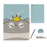 Hamster King  Pattern Stereo Eye Stent Case for iPad Air