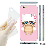 MAYCARI®Cartoon Civet Cat Pattern TPU Soft Transparent Back Case for iPhone 6