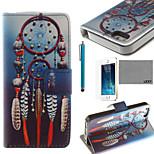 lexy® blauen Wind-bell-Muster PU-Ganzkörper-Ledertasche mit Displayschutzfolie und Schreibkopf für iphone 5 / 5s