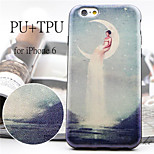 The Moon Godness Pattern High Quality PU Leather and TPU Back Case for iPhone 6/iPhone 6S