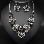 Elegant Hollow Butterfly Rhinestone Necklace / Earrings Jewelry Sets