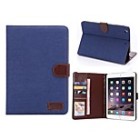 Denim Full Body Cases PU Leather Tablet Protective Shell with Stand for iPad Mini 2/3