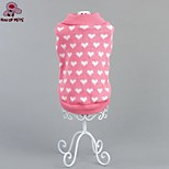 FUN OF PETS® Lovely Winter Pink Heart Pattern  Warm Sweater Puppy Clothing for Pets Dogs