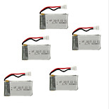 5pcs / lot batterie per syma x5C drone 3.7v 600mah accessorio drone batteria