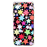 Colorful Star-shaped Pattern Transparent PC Back Cover for iPhone 6