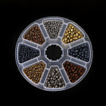 Beadia 1Box/135g Glass Seed Beads Assorted Size 2mm 4mm Round Mixed Metallic Colors (aprx.2800pcs)