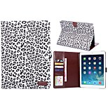 Leopard Pattern PU Leather Full Body Cases Tablet Protective Case with Card Bag for iPad 6 Air 2