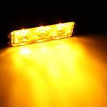 3W suuritehoiset 3 led vesitiivis auton kuorma hätä välkkyvä salama keltainen