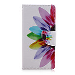 Flower Color Pattern PU Leather Full Body Cover with Stand for Sony Z5