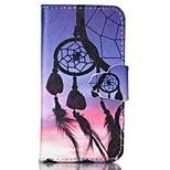 doigt boucle dreamcatcher peint PU cas de téléphone pour iPhone4 / 4S