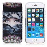 New Violence Masked Girl  Pattern TPU Material Phone Case for iPhone 6 / 6S