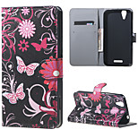 Butterfly Flowers Wallet Leather Stand Case for Acer Liquid Z630 Z630s (5.5 inch)
