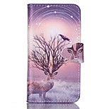 Star Antelope Pattern PU Leather Full Body Cover with Stand for Sony Xperia Z3 Compact