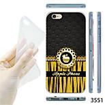 modelo de la manzana maycari®golden TPU trasera transparente suave para el iphone 6