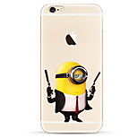 007 Yellow People Pattern TPU Soft Phone Case for iPhone 6/6S