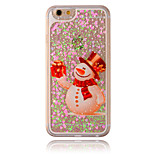 Christmas Snowman Flow Sand PC Material Cell Phone Case for iPhone 6/6S