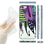 MAYCARI®Colorful Feather Pattern TPU Soft Transparent Back Case for iPhone 6