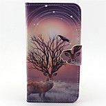 Star Antelope Pattern PU Leather Full Body Cover with Stand for Sony Xperia Z5 Compact