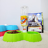 Pumpkin Double Bowl Of Drinking Water Pet Cat Bowl Dog Bowl Bowl Mat Tableware Drink Water At The Bottom Of The Bowl