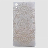 Mandala Pattern Transparent TPU Soft Case for Sony Z5