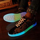 Frauen und Männer Mode noctilucent Paare geführt Schuhe USB-Ladesportschuhe