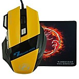 E-STONE X7 Design LED Light Wired Gaming 2400 DPI USB Mouse+Mouse Pad